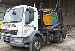 Skip Hire Harlow fully loaded skip